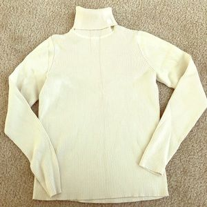 Ivory ribbed Ralph Lauren turtleneck sweater